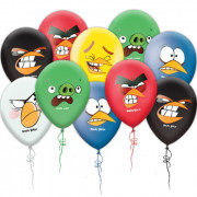 Шары с гелием 'Angry Birds Faces'