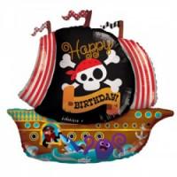 Фигурный шар Happy Birthday с пиратами