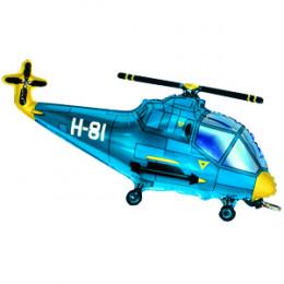 Фигурный шар Синий вертолет