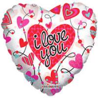 Шар-сердце I love you прозрачный