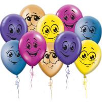 Воздушные шары Улыбки разноцветные